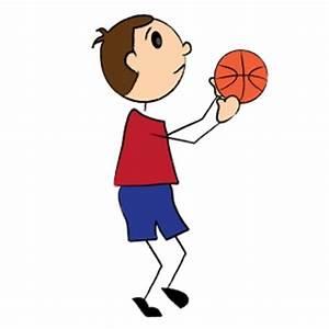 Basketball Clipart Image - Boy shooting a basketball