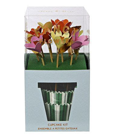 fancy flowers cupcake kit  perfect zulilyfinds