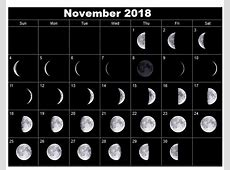 Full Moon Calendar 2018 Phases Printable Images and