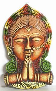 Style Chart Namaste Indian Style Of Welcoming Wall Hanging