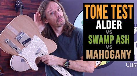 alder  swamp ash  mahogany guitar body wood tone