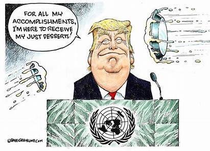 Trump Granlund Laughs Dave Un Cartoon Donald