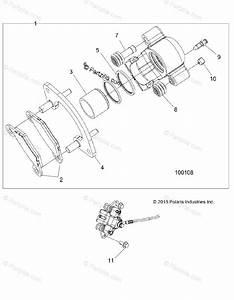 Polaris Atv 2017 Oem Parts Diagram For Brakes  Front