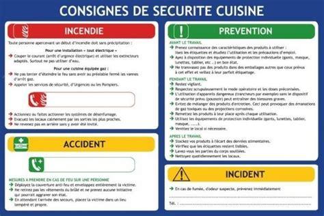 sécurité cuisine consigne de securite en cuisine plan d 39 évacuation