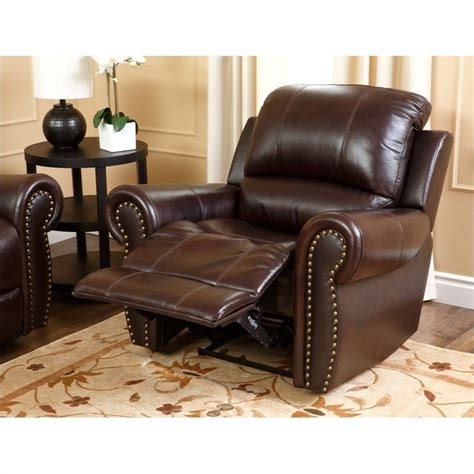 Bobs Living Room Sets by Abbyson Living Hogan Top Grain Leather Recliner 448811