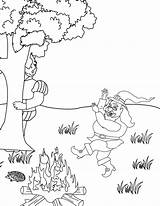 Rumpelstiltskin Coloring Pages Fire Dancing Around Template Folders Page9 Colpages sketch template