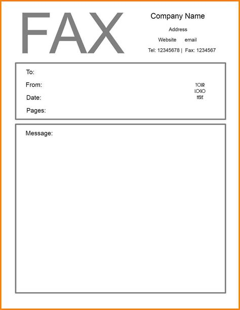 fax header template word picture microsoft word fax