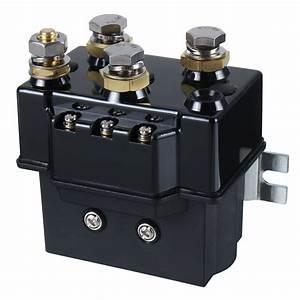 Black 12v Dc 500amp 1500lb 4 U00d74 Heavy Duty Winch Relay Solenoid
