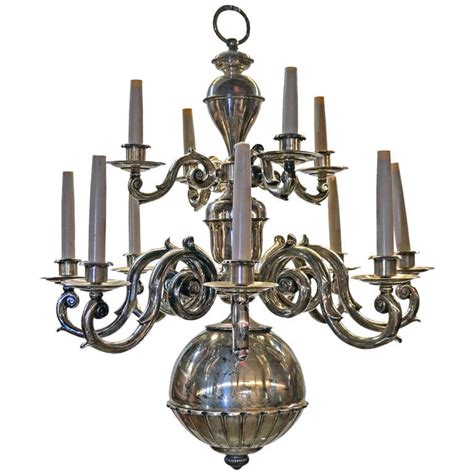 Two Tier Chandelier by Baroque Style Brass Two Tier Twelve Light Chandelier