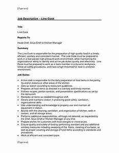 line cook job resume resume ideas With cook job description for resume