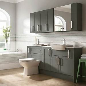 Moores, Bathroom, Fitted, Furniture, Charcoal, Grey, Shaker