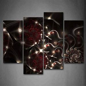 20 inspirations of black white and red wall art for Black wall art