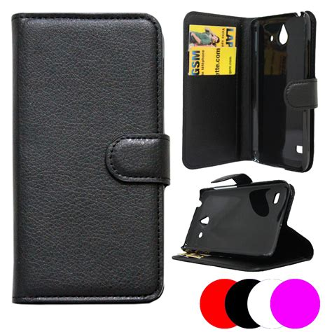 etui housse portefeuille huawei ascend y550