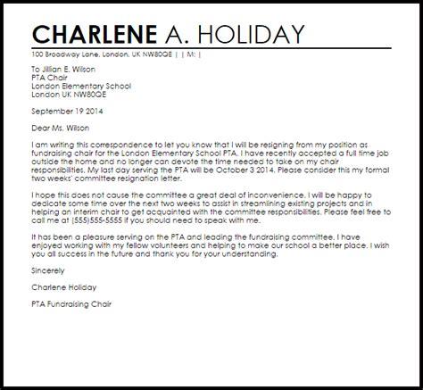 committee resignation letter resignation letters