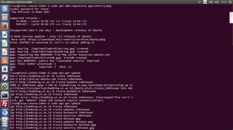 sudo apt get install l nonton tv di os linux ubuntu linux for all