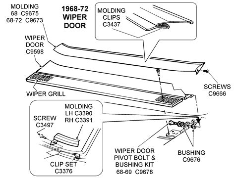 72 Corvette Wiper System Wiring Diagram by 1968 72 Wiper Door Diagram View Chicago Corvette Supply