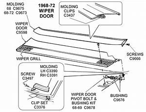 1968-72 Wiper Door - Diagram View