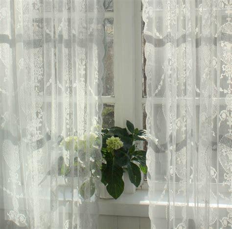 vorhang avery offwhite spitzen gardine  cm  stueck