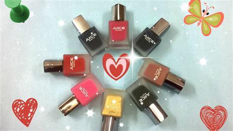 Juice matte nail polish | Cheapest matte nail polish | Juice matte nail paint |Swatches of 7 ...