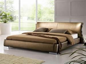 Lit King Size 180x200 : lit design en cuir lit double 180x200 cm sommier inclus paris or ~ Preciouscoupons.com Idées de Décoration