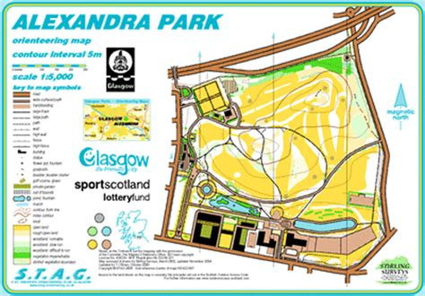 mapped areas st andrews orienteering club glasgow