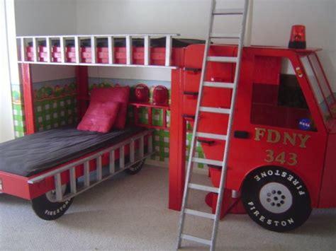 firetruck bed fire truck bedroom kid beds bunk beds