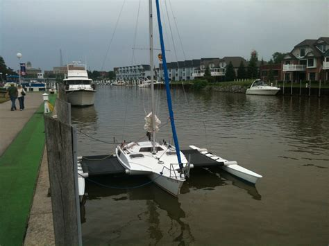 Trimaran Knots Speed by An Ocqueteau Speed 770 Trimaran Sails Again Small Trimarans