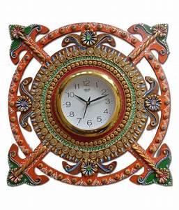 Unique, Indian, Crafts, Assymetric, Analog, Wall, Clock, D, U00c3, U00a9cor, Watch, 3, X, 35, Cms, Buy, Unique, Indian