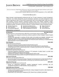 facilities manager resume objective facilities management resume objective