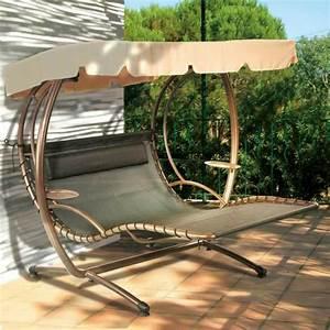 Hamac Suspendu Sur Pied : chaise longue suspendue et fauteuil relax ~ Teatrodelosmanantiales.com Idées de Décoration