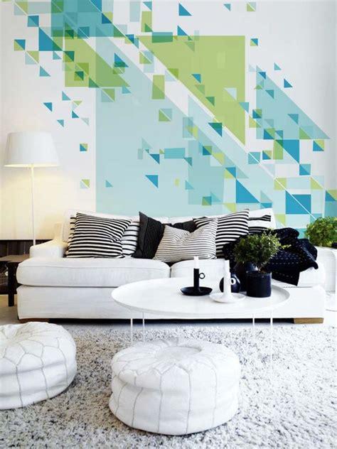 geometric wall design 24 stylish geometric wall d 233 cor ideas digsdigs