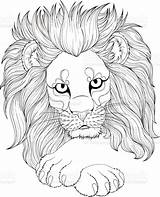 Coloring Lion Adult Animal Drawing Mandala Detailed Youngandtae Above Credit Istockphoto Mandalas sketch template