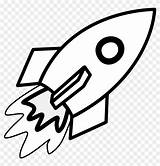 Rocket Coloring Clipart Pages sketch template