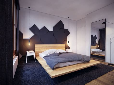 chambre high tech appartement moderne au design minimaliste et chaleureux à
