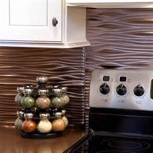 tin tiles for kitchen backsplash fasade backsplash waves in brushed nickel