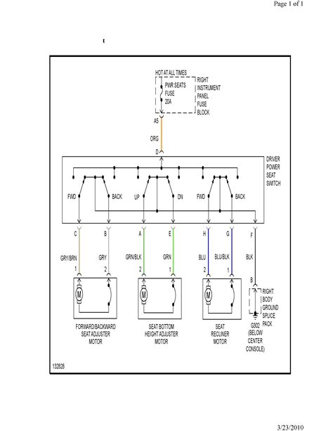 does anyone have a wiring schematic for the saturn l300 power drivers seat