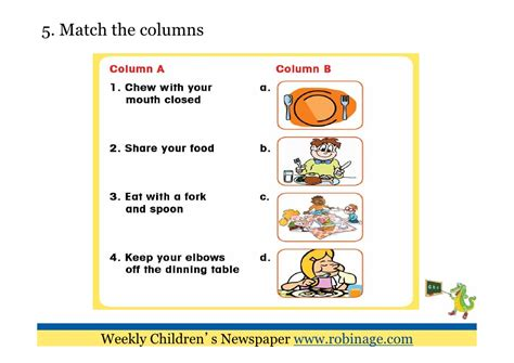 table manners for kids fun learning for kids table manners