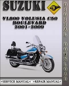 Suzuki Volusia Vl800 Motorcycle Service Repair Manual 2001 2004