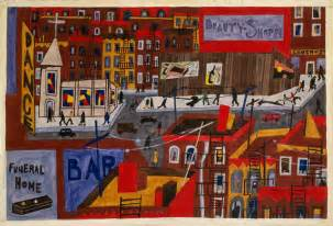 explore 1930s harlem of jacob lawrence in the moma s one