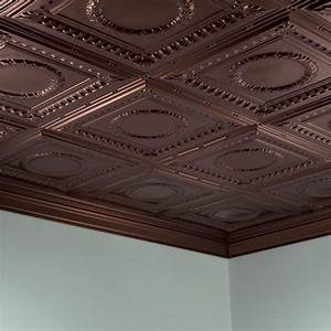 Fasade Ceiling Tile-2x4 Direct Apply-Rosette in Oil-Rubbed