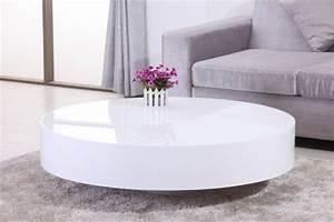 Table Basse Ronde Blanche : table basse ronde laqu e belius chloe design ~ Teatrodelosmanantiales.com Idées de Décoration