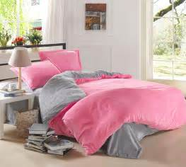 Pink and Grey Teen Bedding