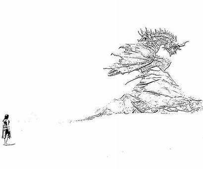 Skyrim Dragon Coloring Elder Pages Scrolls Meet