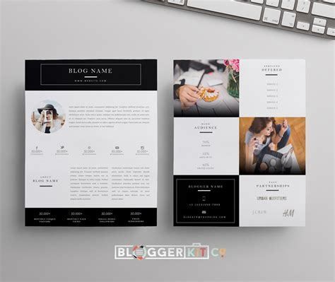 Media Kit Template Ii Black Media Kit Template Diy Media