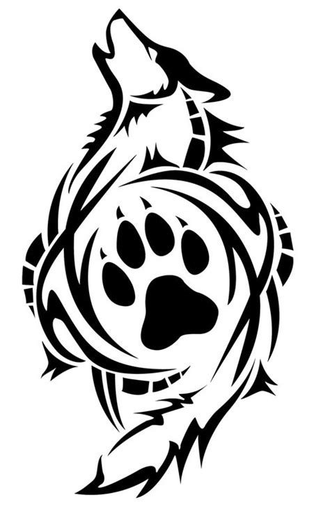 Imgur   Wolf paw tattoos, Tribal wolf tattoo, Tribal wolf