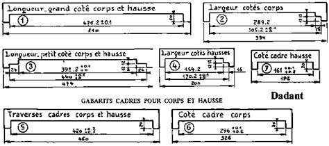 ruche dadant 12 cadres drawings and dimensions