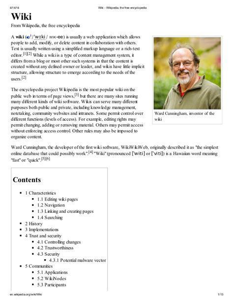 Wiki Wikipedia The Free Encyclopedia