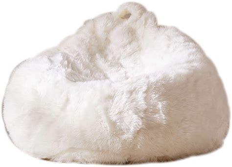 aspyn shag bean bag chair white decorist