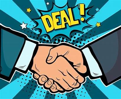 Pop Comic Business Handshake Contract Software Demand