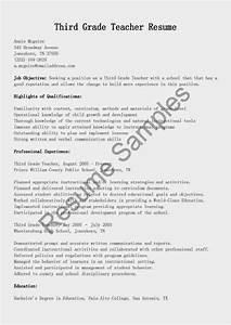 College Student Resume Objective Sample Resume Samples Third Grade Teacher Resume Sample
